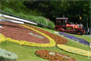 The famous Flower Clock, a wonderful botanic creation that also tells the time!